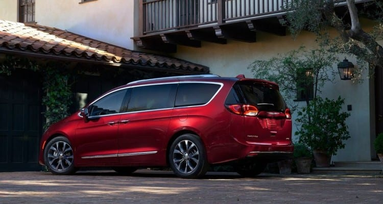 2017 Chrysler Pacifica Rear View Red