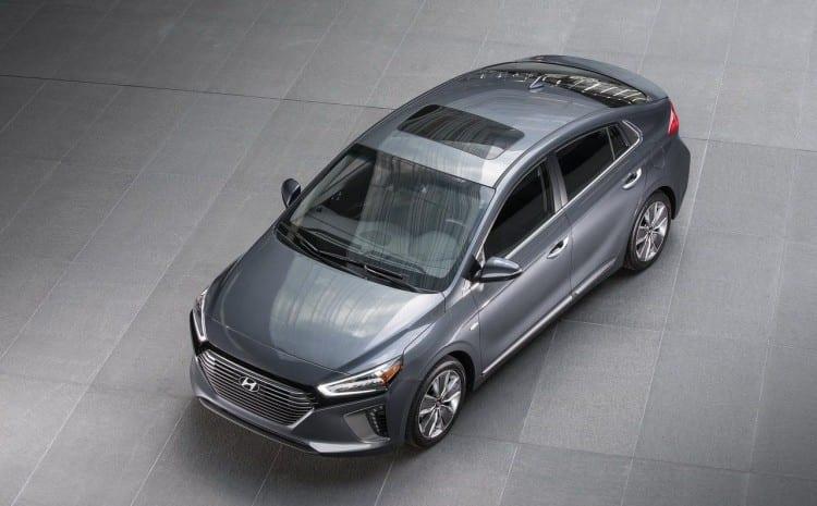 2017 Hyundai Ioniq upper view