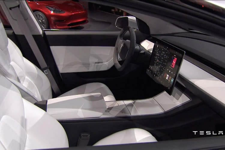 2017 tesla model 3 specs range review cars reviews carsoid for Tesla model 3 interieur