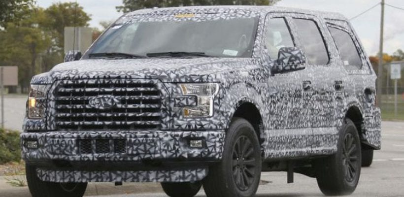 Ford Expedition for 2018 shows design inspired by the F-150
