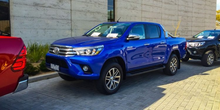Exterior of 2016 Hilux