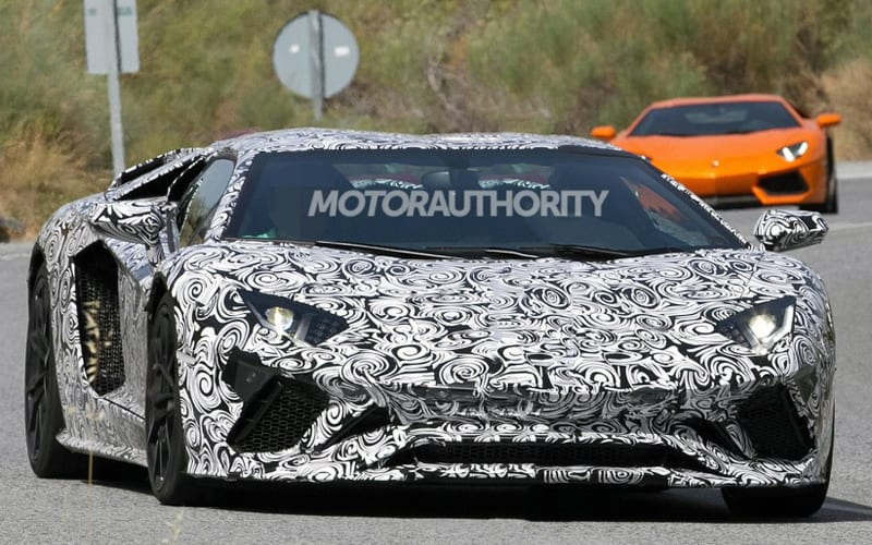 2018 Lamborghini Aventador Roadster Spy Shot 01
