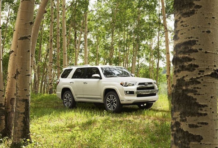 2016 Toyota 4Runner model shown; Source: toyota.com