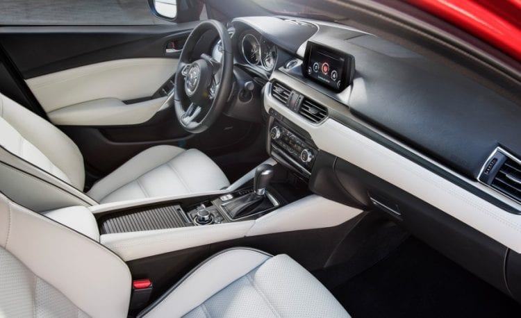 Source: caranddriver.com; 2017 Mazda 6 interior shown