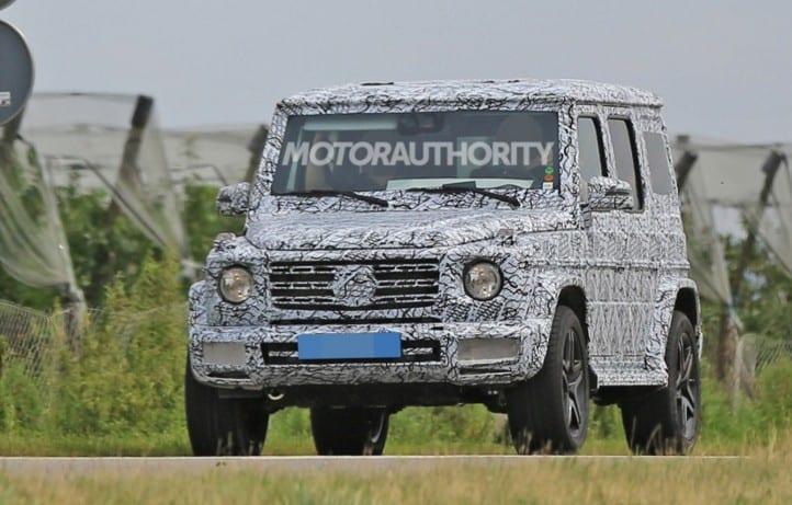 2018 Mercedes Benz G-Class spy photo shown