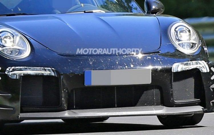 2018 Porsche 911 GT2 spy photo; Source: motorauthority.com