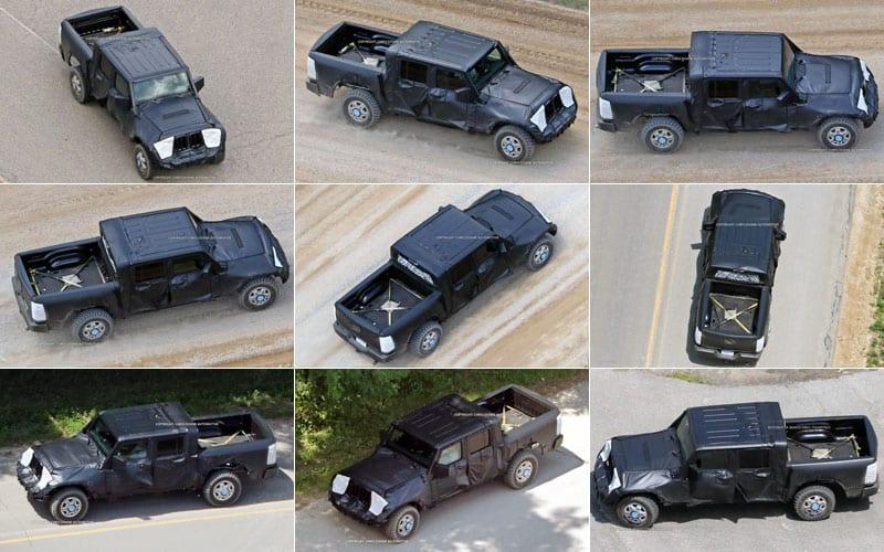 2019 Jeep Wrangler Pickup spy shots
