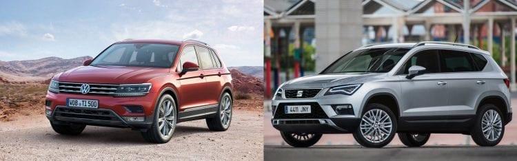 Seat Ateca and VW Tiguan; Souce: netcarshow.com