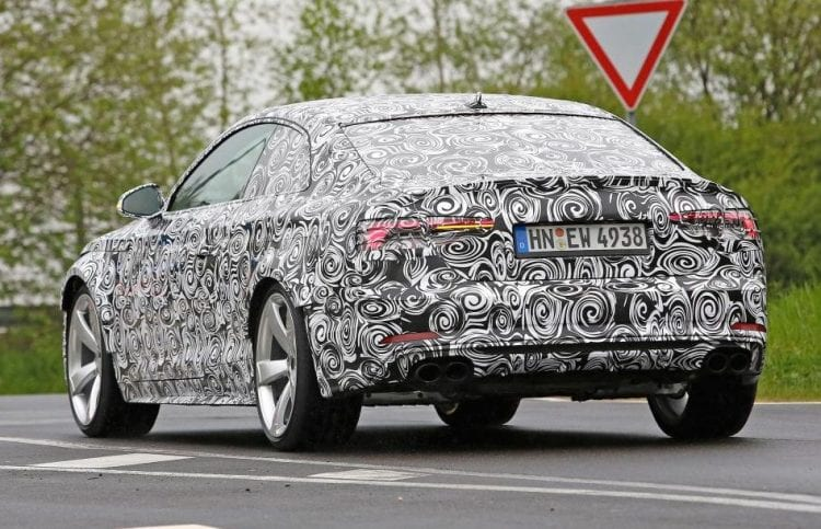 2017 Audi RS5 Spy shots of testing mule; Source: autoexpres.co.uk