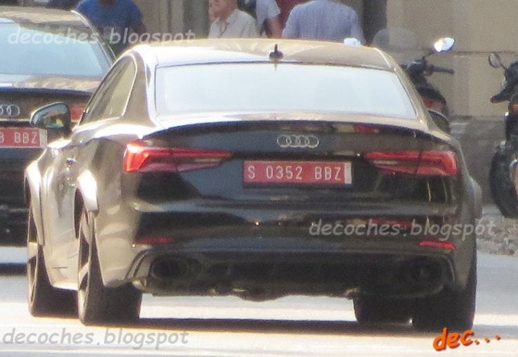 2017 Audi RS5 spied undisguised; Source: indianautosblog.com