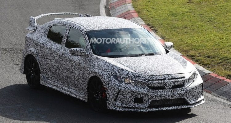 2018 Honda Civic Type R spy photos; Source: motorauthority