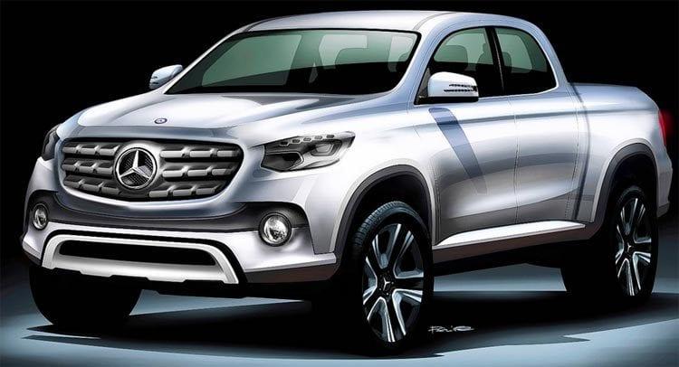 2018 Mercedes GLT Sketch shown; Source: carscoops.com