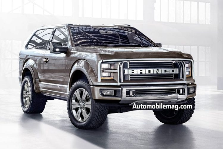 2017 Ford Bronco Is Coming Rumors Engine Diesel Petrol Price