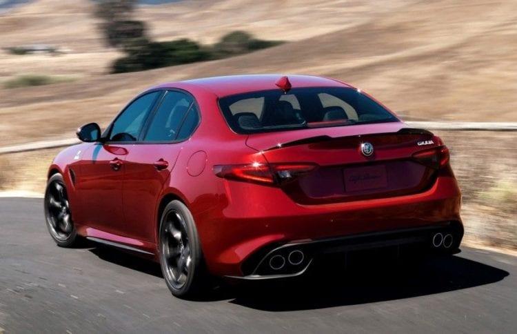 2017 Alfa Romeo Giulia Quadrifoglio rear view - Copy