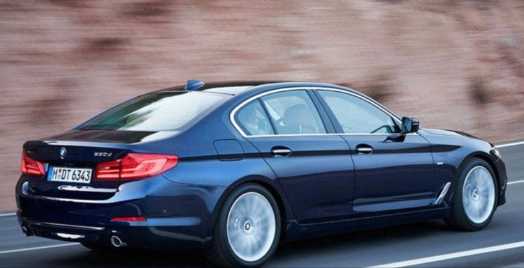 2017 BMW 5 Series on road