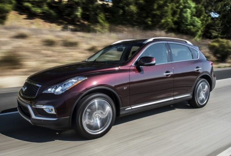 2017 Infiniti QX50 on road