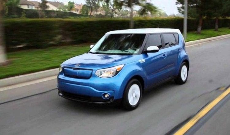 2017 Kia Soul EV on road