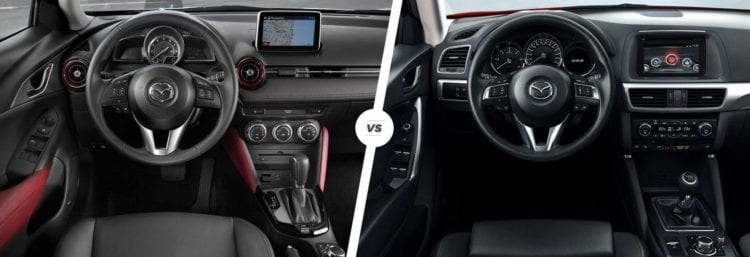 Mazda CX-3 vs CX-5 interior