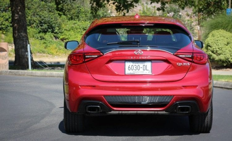 2017 Infiniti QX30 Sport back view