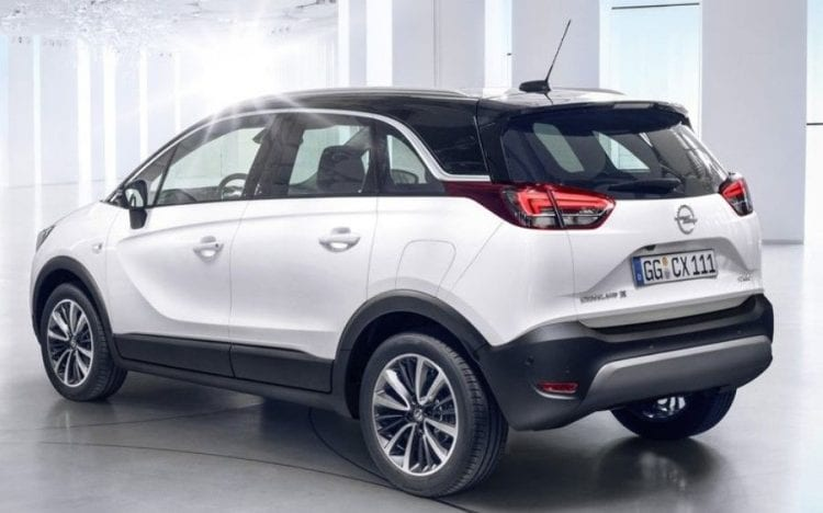 2018 Opel Crossland X rear view