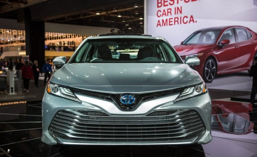 2018 toyota camry first spy photos price review toyota rumors. Black Bedroom Furniture Sets. Home Design Ideas