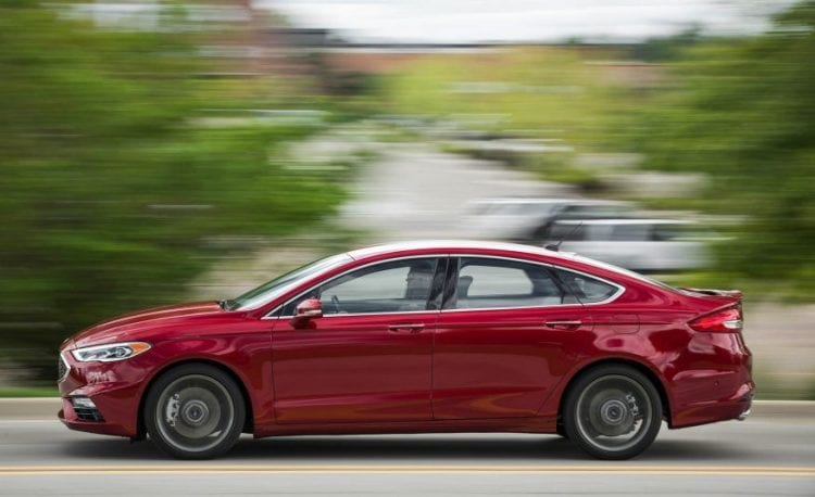 2017 Ford Fusion Sport side view 2