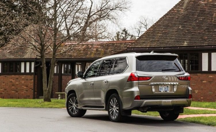 2017 Lexus LX 570 rear view