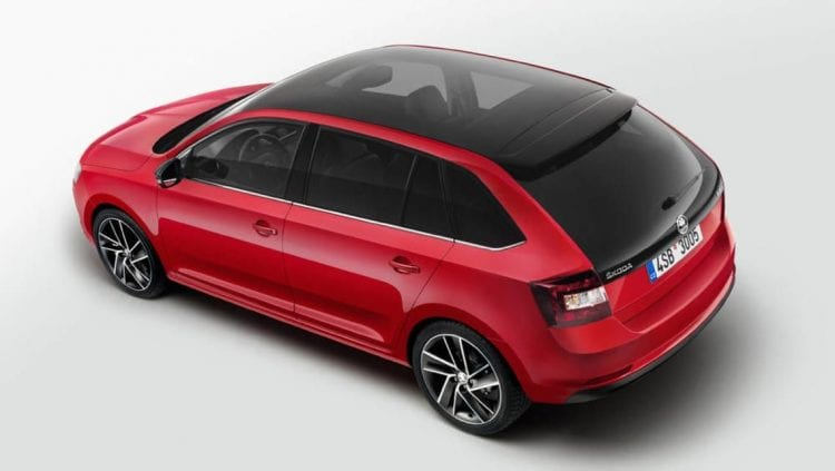 2017 Skoda Rapid top view