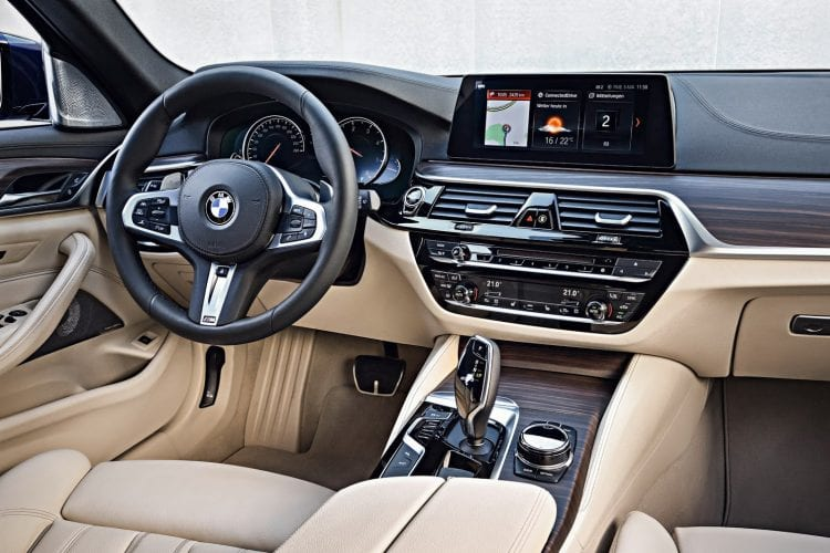 2018 BMW 5 Series Touring interior