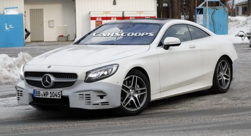 2018 mercedes s class coupe performance engine spy photos specs - S class coupe dimensions ...