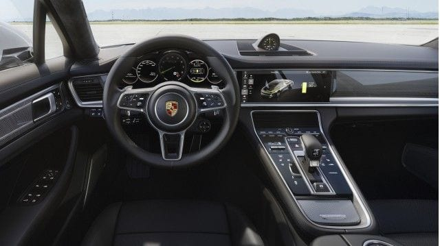 2018 porsche panamera turbo s e hybrid release date price review for Porsche panamera interior dimensions
