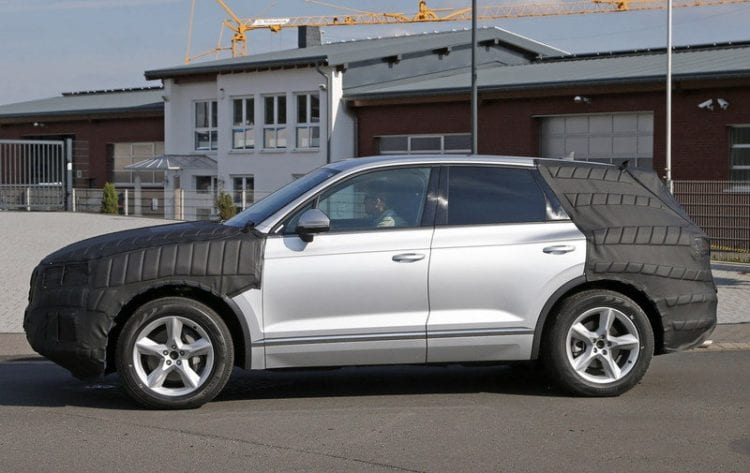2018 Volkswagen Touareg Sneak Peek side view
