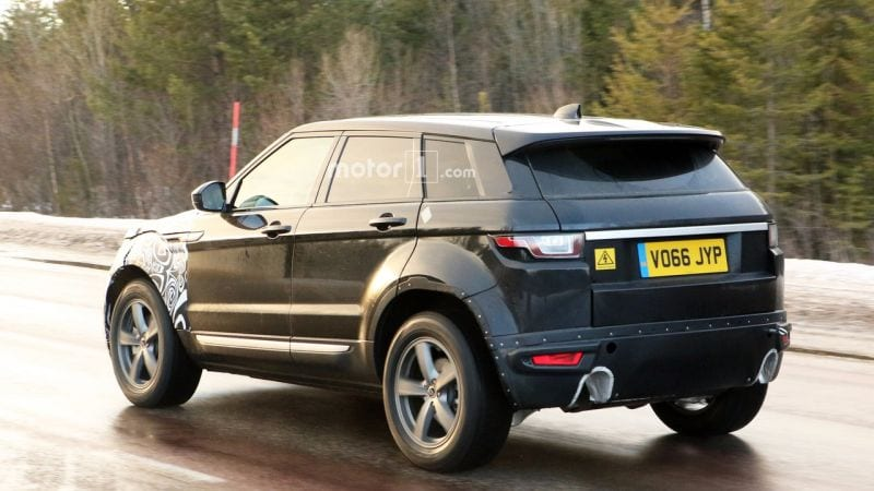 2019 range rover evoque first spy shots of new evoque. Black Bedroom Furniture Sets. Home Design Ideas