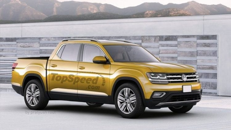 2019 Volkswagen Atlas Pickup side view
