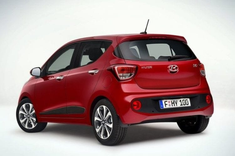 Hyundai i10 2017 rear view