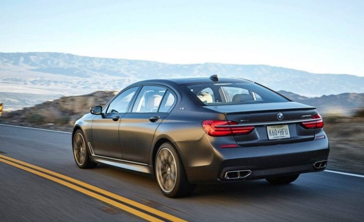 2017 BMW 7 Series rear view
