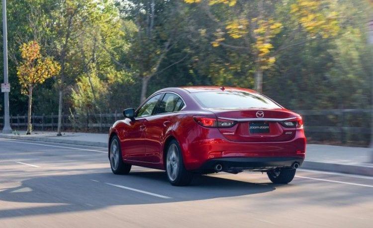 2017 Mazda 6 rear view