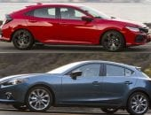 Mazda 3 vs Honda Civic Hatchback
