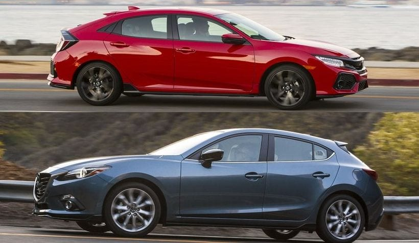 Mazda 3 Vs Honda Civic Hatchback Design Performance