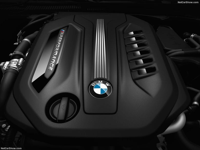 2018 BMW M550d XDrive Touring engine