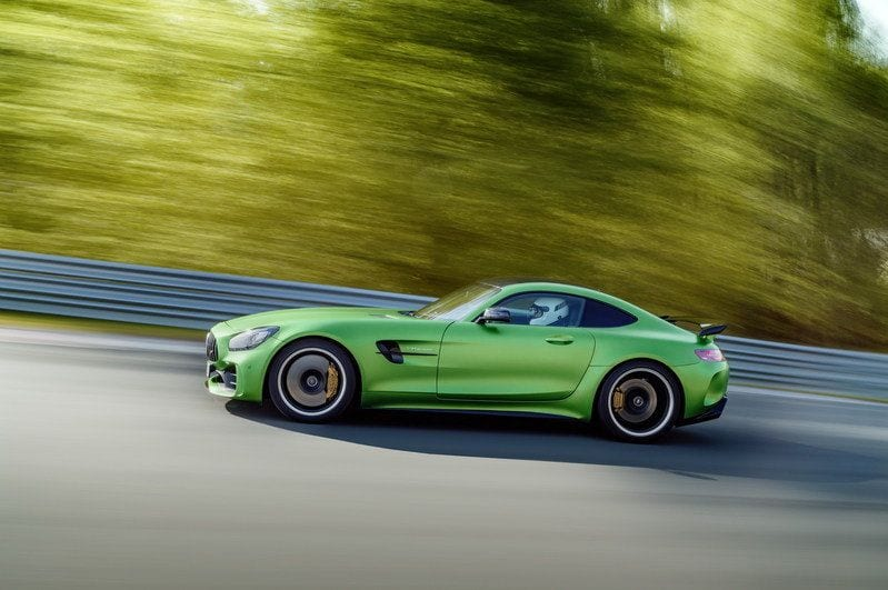 2018 Mercedes AMG GT R side view
