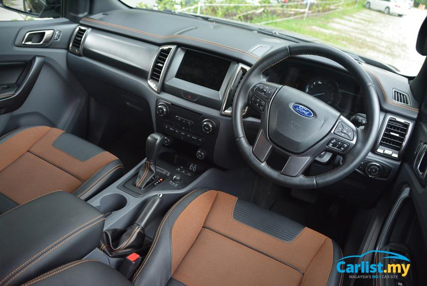 2017 Ford Ranger Wildtrak Jet Black Interior