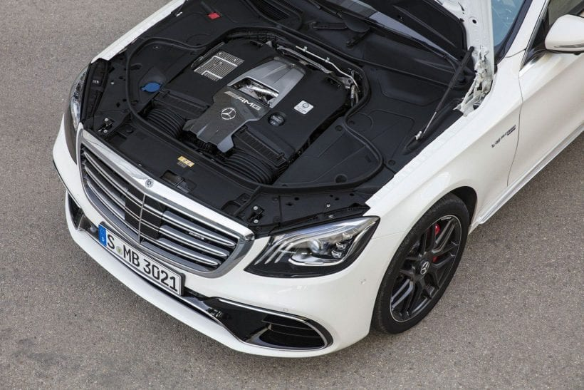 2018 Mercedes-AMG S63 engine