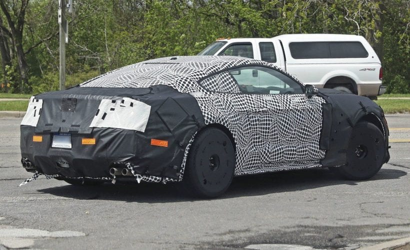 2019 Ford Mustang Shelby GT500 spy shots