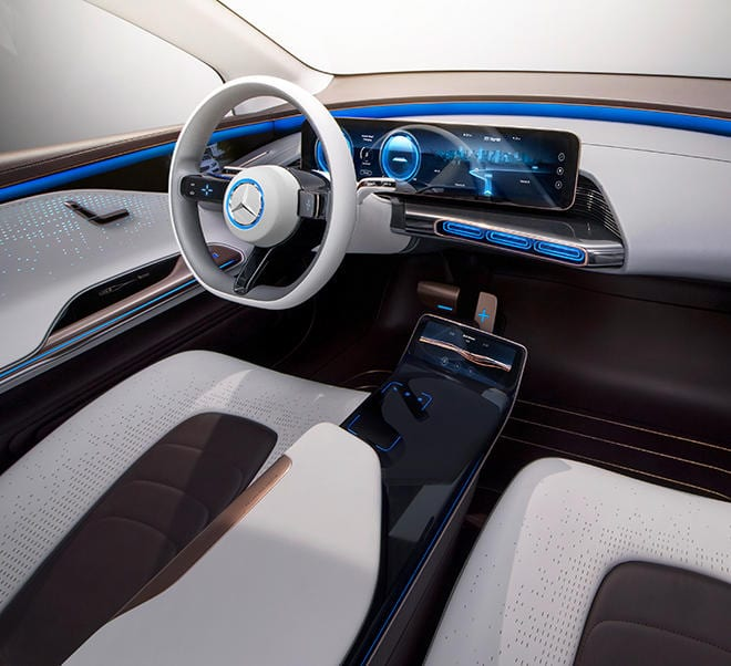 2020 Mercedes-Benz EQ SUV interior