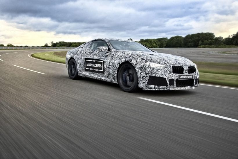 2019 BMW M8 on highway