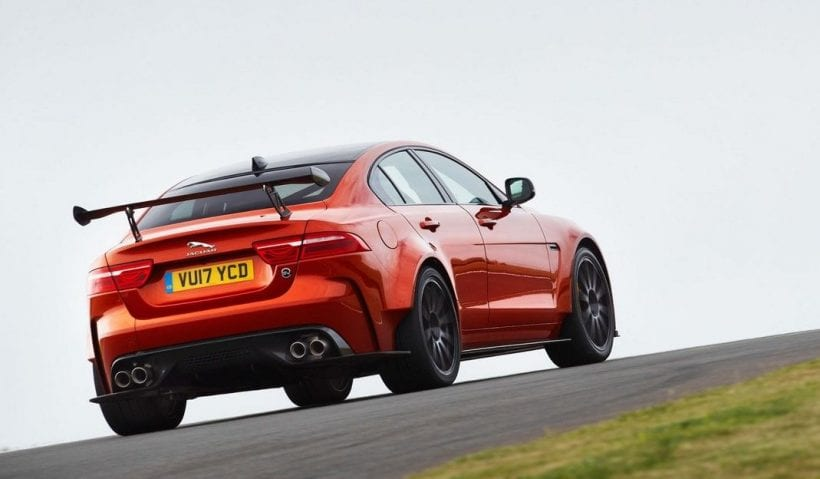 2018 Jaguar XE SV Project 8 back view