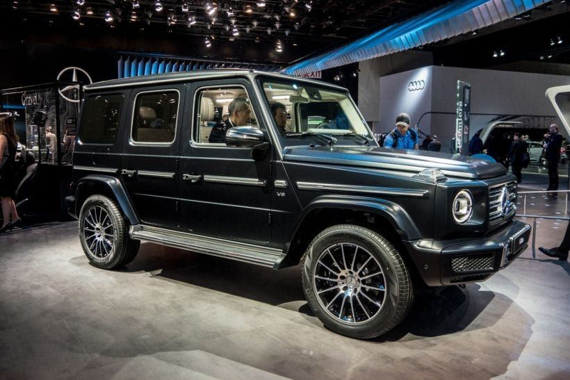 2018 mercedes g class introduced in detroit. Black Bedroom Furniture Sets. Home Design Ideas